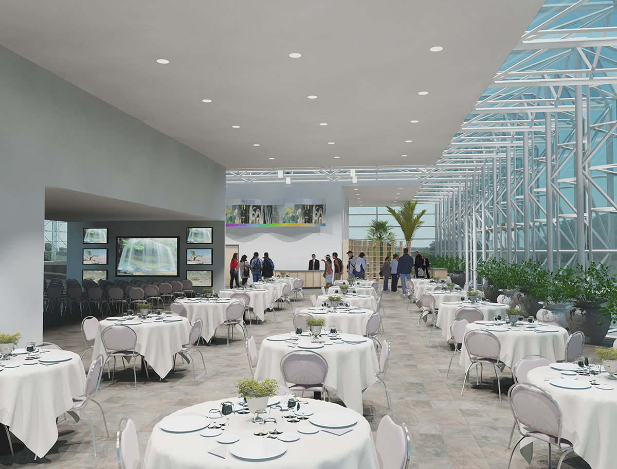4 tskp hartford botanical garden master plan interior detail rendering lighting furnishings seating 1400 xxx q85