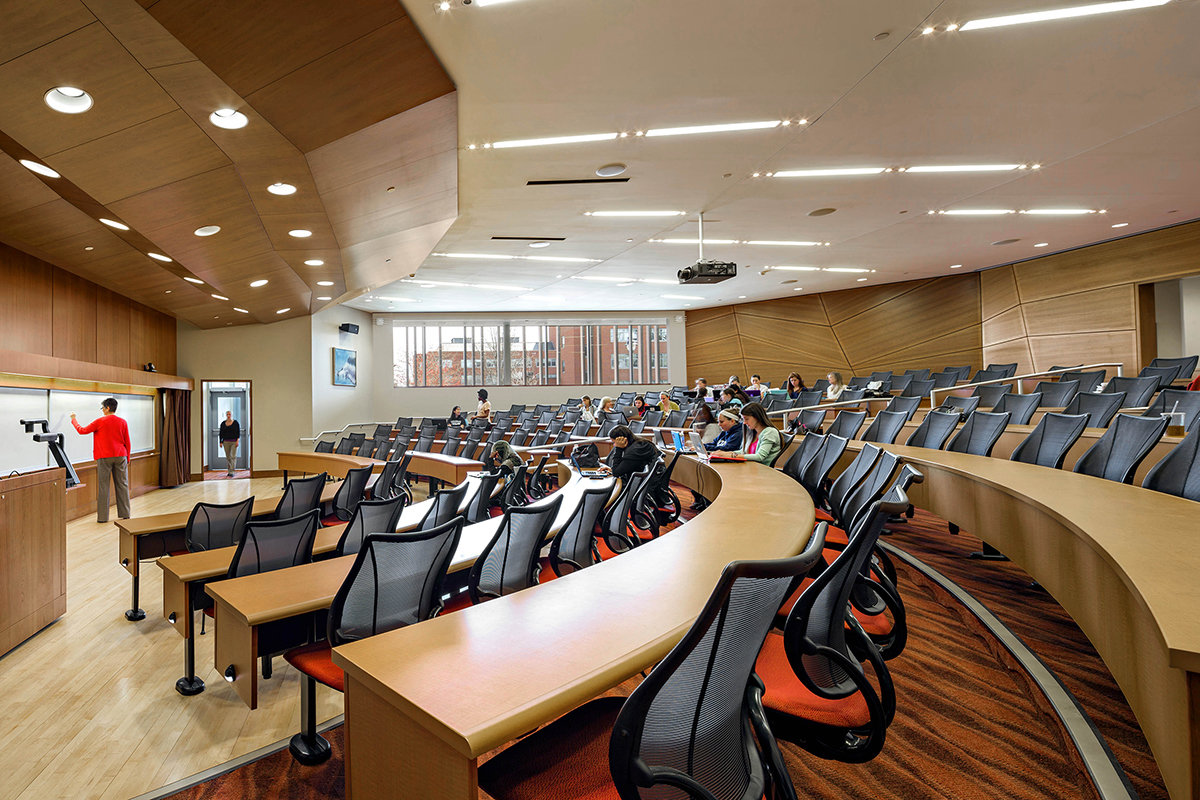8 tskp university of connecticut widmer wing school of nursing interior lecture hall fixtures furniture equipment ceiling and wall design 1400 xxx q85